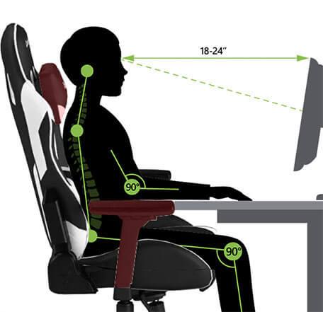 Cadeira Gaming - Apoio e Suporte