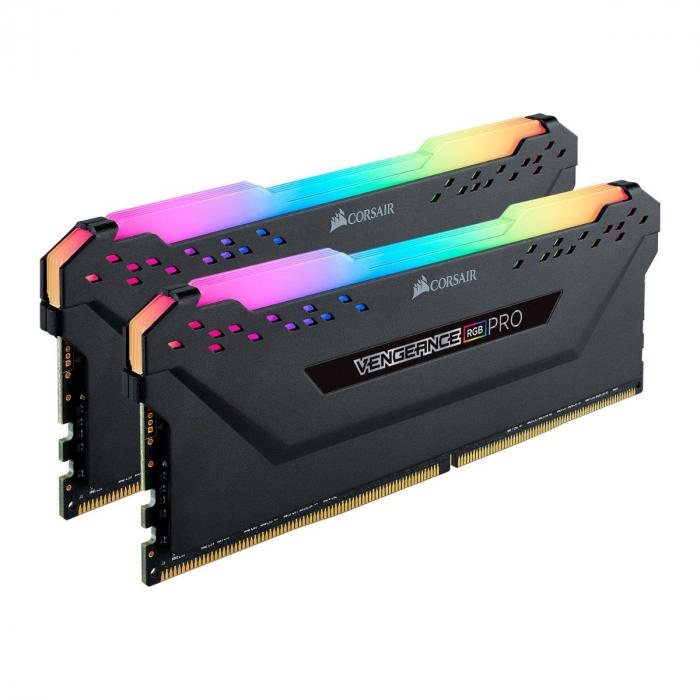 Memória RAM Corsair Vengeance RGB Pro 16GB (2x8GB) DDR4-3200MHz CL16 Preta