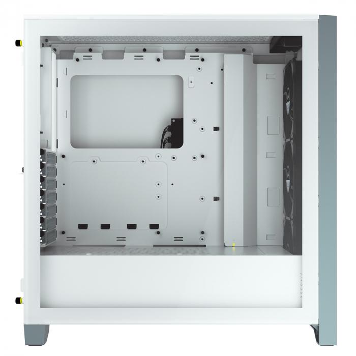 Caixa Extended-ATX Corsair iCUE 4000X RGB Tempered Glass Branca