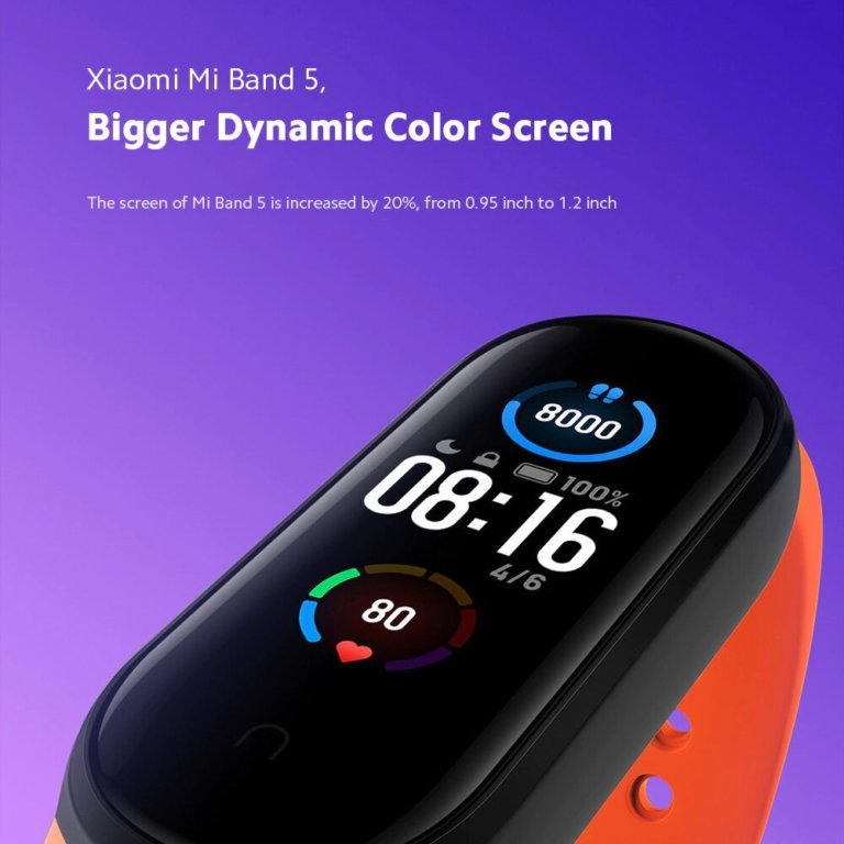 SmartBand Xiaomi Mi Band 5 Preta