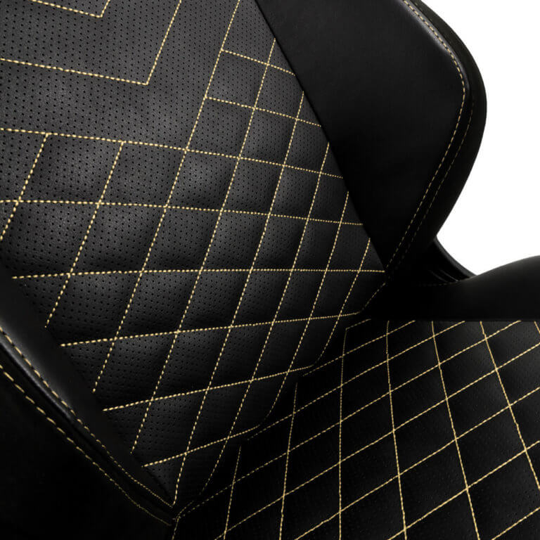 Cadeira Gaming Noblechairs HERO PU Leather Preta/Dourada