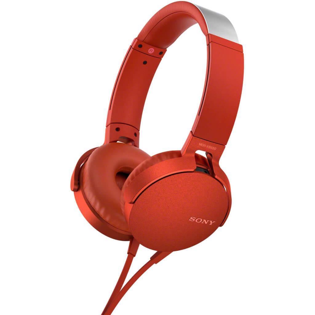 Headphones Sony XB550AP Extra Bass Vermelhos