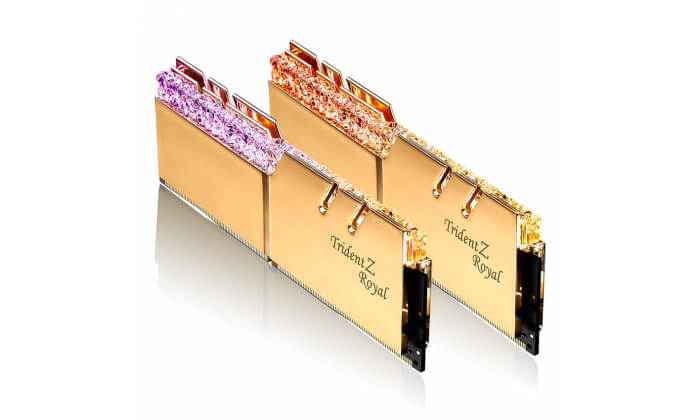 Memória RAM G.SKILL Trident Z Royal RGB 16GB (2x8GB) DDR4-4000MHz CL16 Dourada