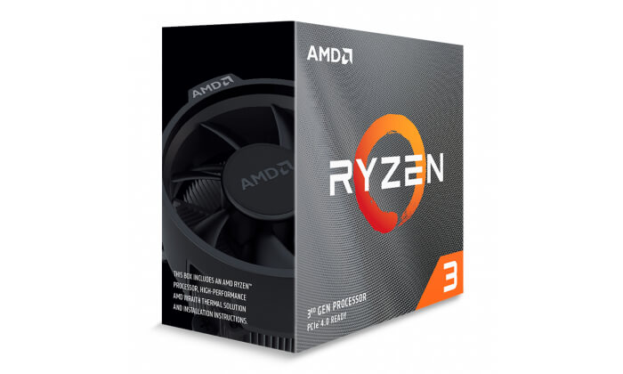 Processador AMD Ryzen 3 3100 Quad-Core 3.6GHz c Turbo 3.9GHz 18MB