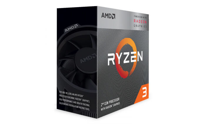 Processador AMD Ryzen 3 3200G Quad-Core 3.6GHz c Turbo 3.9GHz 6MB