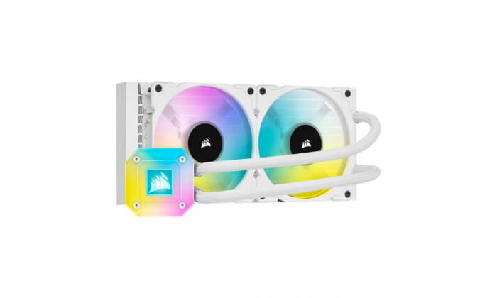 Water Cooler CPU Corsair iCUE H100i RGB Elite Capellix 240mm Branco